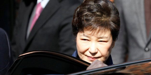 South Korea's ousted leader Park Geun-hye leaves her private house in Seoul, South Korea, March 30, 2017....