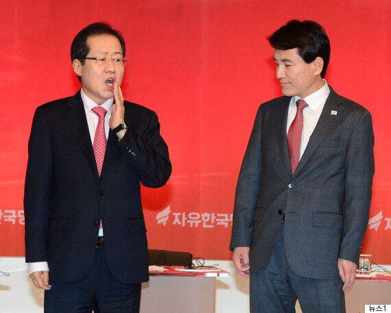 '승리 다짐' 만찬 뒤 홍준표가 김진태에게 건넨 한마디 :