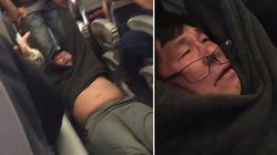 정원초과라는 이유로 한 항공사가 승객을 강제로 질질 끌어내는 동영상이