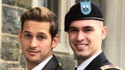 군인이 남친을 사관학교 졸업 파티에