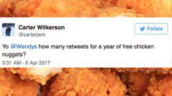 치킨너겟에 대한 이 글이 역사상 최다 리트윗될