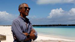 오바마는 지금 태평양의 섬에서 자서전을 쓰고