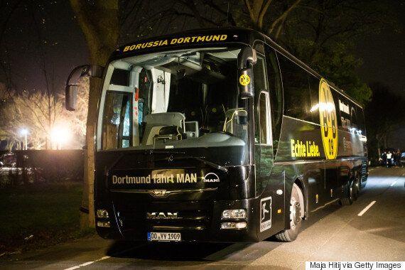 독일 축구팀 도르트문트 선수들이 탄 버스 근처에서 폭발이
