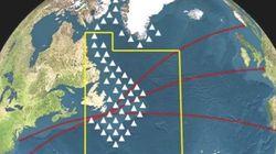 450개의 빙산이 북대서양 항로를