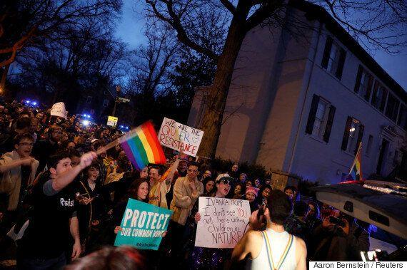 이방카 트럼프의 집 앞에서 기후 정의를 위한 댄스파티가