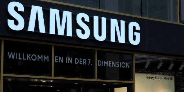 Frankfurt, Germany – March 30th, 2016: Samsung shop on the Zeil Street. Includes the Samsung logo and...