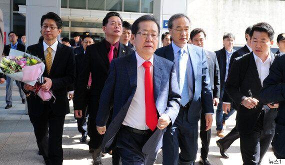보궐선거 무산시킨 '꼼수 사퇴'의 주인공 홍준표가 '눈물의 퇴임식'을