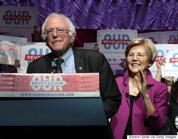 버니 샌더스가 민주당 후보들을 지원하기 위해 전국 곳곳을 누비는 투어를