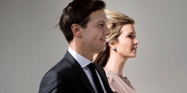 Ivanka Trump and her husband White House senior advisor Jared Kushner arrive for a joint press conference...
