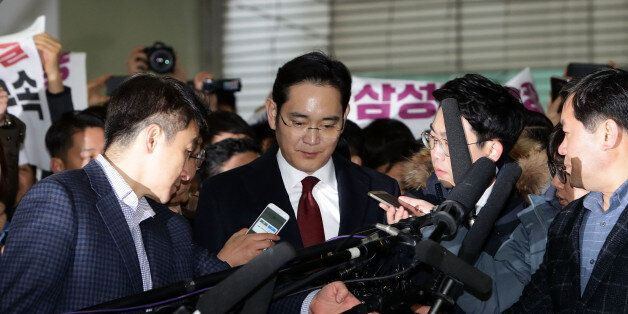 SEOUL, SOUTH KOREA - JANUARY 12: Lee Jae-Yong, vice chairman of Samsung arrives at the office of the...