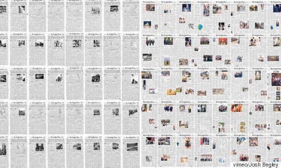 1852년부터 발간된 6만 여장의 뉴욕타임스 1면을 60초 만에