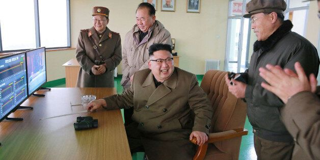 This undated picture released by North Korea's official Korean Central News Agency (KCNA) on March 19,...