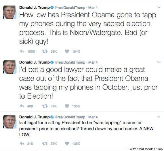 '오바마가 꼭 도청을 했다는 건 아니다'라고 트럼프의 백악관이 결국 꼬리를