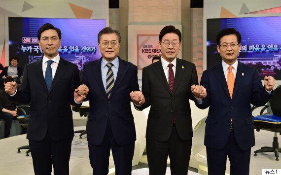 문재인 4%p 하락·안희정 5%p 상승...민주 경선