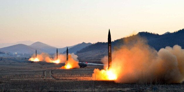 TOPSHOT - This undated picture released by North Korea's Korean Central News Agency (KCNA) via KNS on...