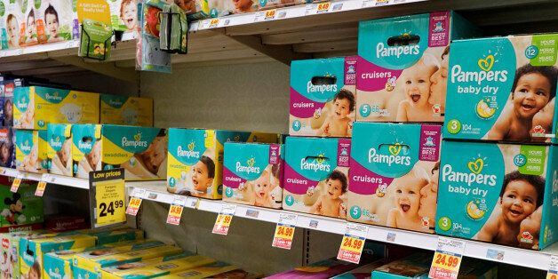 A display of Pampers diapers are seen on sale in Denver February 16, 2017. REUTERS/Rick