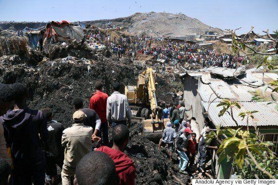 에티오피아 '쓰레기 산' 붕괴로 48명