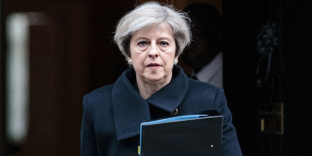 REFILING WITH ADDITIONAL INFORMATION Britain's Prime Minister Theresa May leaves 10 Downing Street the...