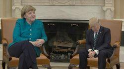 메르켈·트럼프의 사진에 '포토샵 전쟁'이