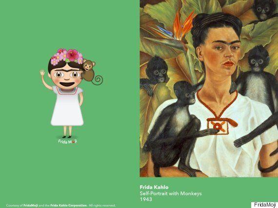 프리다 칼로의 작품으로 만든 이모티콘이