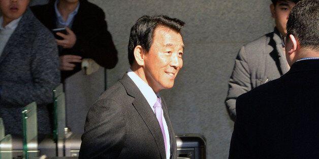 검찰 소환된 김창근 전 SK그룹 수펙스추구협의회