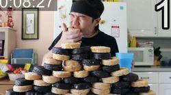 보기만 해도 목이 메는 12,000kcal '도넛
