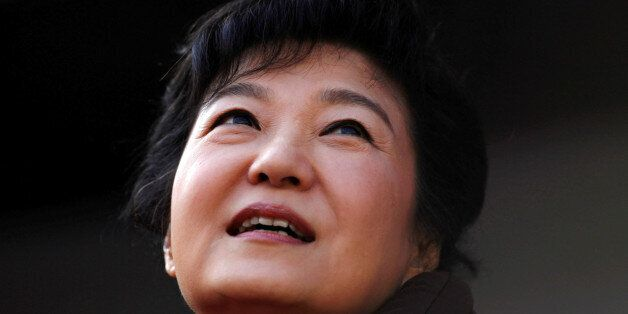 FILE PHOTO: South Korea's presidential candidate Park Geun-hye of the ruling Saenuri Party attends her...
