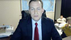 박근혜 탄핵에 대해 보도하던 영국 BBC뉴스가 아이들의 공격을