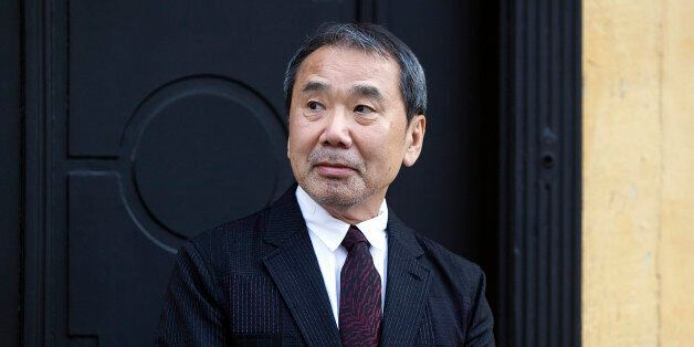 ODENSE, DENMARK - OCTOBER 30: Japanese author Haruki Murakami outside the house of Danish author Hans...
