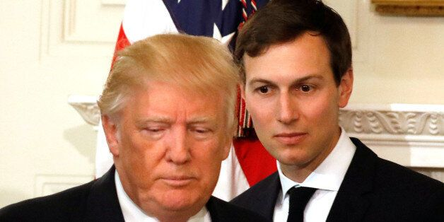 U.S. President Donald Trump and his senior advisor Jared Kushner arrive for a meeting with manufacturing...