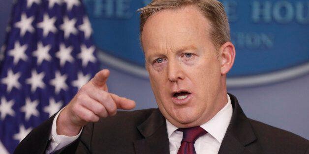 WASHINGTON, DC - FEBRUARY 23: White House Press Secretary Sean Spicer holds the daily briefing February...