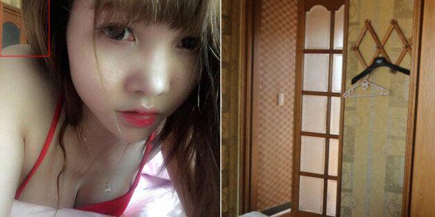 김정남 암살 용의자인 베트남 국적 여성 도안 티 흐엉(29)의 페이스북 계정에 게시된 제주 숙소 안 사진(왼쪽). 오른쪽은 24일 오후 같은 숙소로 보이는 방 안에서 찍은 사진이다....