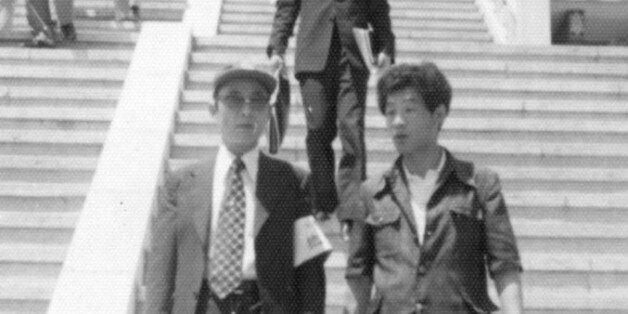 최태민과 조순제. 1975년 대한구국선교단 시절의 모습. 당시 최태민은 선고단의 총재로, 조순제는 홍보실장으로