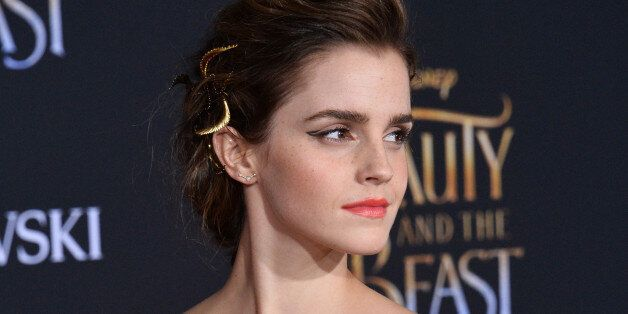 Cast member Emma Watson attends the premiere of the motion picture romantic musical fantasy 'Beauty and...