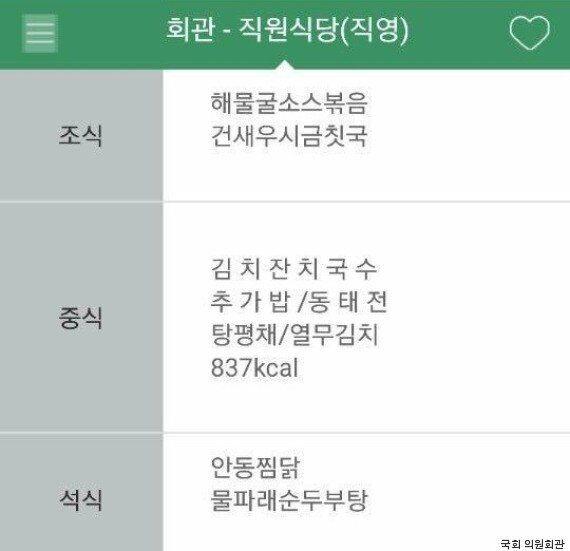 박근혜 탄핵이 인용된 날 점심시간, 의원회관 식당에 긴 줄이