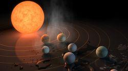 지구와 비슷한 크기의 행성 7개가