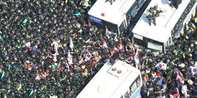 '박근혜 탄핵 반대 집회' 참가자 중 2명이