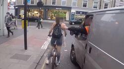 자전거를 탄 여성이 성희롱 운전자에게 복수한 영상은 '가짜