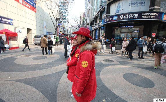 사드 보복으로 명동에서 중국인 관광객들이 순식간에