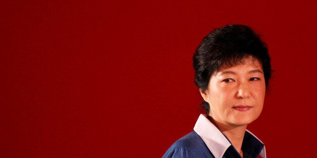 FILE PHOTO: Park Geun-hye attends a national convention of the ruling Saenuri Party in Goyang, north...