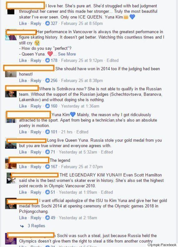 올림픽 공식 계정에 올라온 김연아 찬양 영상에는 이런 댓글이