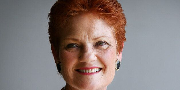 SUNSHINE COAST, AUSTRALIA - DECEMBER 08: Senator Pauline Hanson speaks with the media and local taxi...