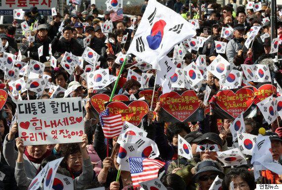 박근혜 탄핵 반대 '태극기집회'는 3·1절에 청와대 앞까지 행진할