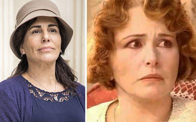 Lola: Glória Pires, em 2019, na TV Globo, e Irene Ravache, em 1994, no