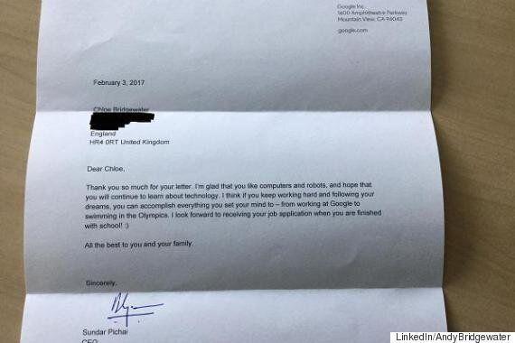 구글 CEO가 7살짜리의 입사지원 편지에