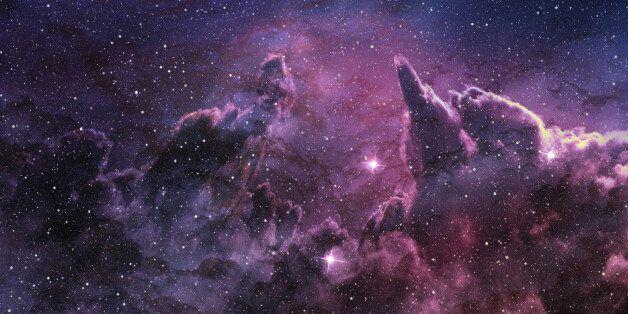 purple nebula and cosmic dust in star