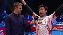 한 일본 당구 선수의 인터뷰에 모두가 빵