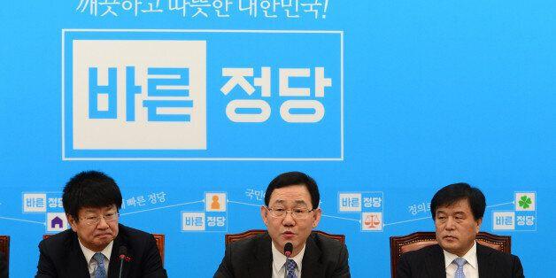 주호영 바른정당 원내대표가 3일 오전 서울 여의도 국회에서 열린 원내대책회의에서 모두발언을 하고