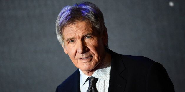Harrison Ford arrives at the European Premiere of Star Wars, The Force Awakens in Leicester Square, London,...