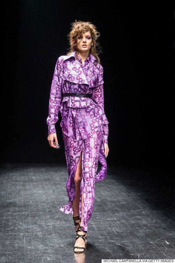 자궁에서 영감을 얻은 드레스가 스톡홀름 패션위크 런웨이에